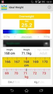 理想体重(BMI):70.5kgを超えるとヤバい!気をつけないと