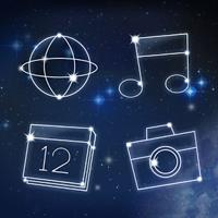 『星座 アトム アイコンパック』~アイコンが星座に変身!ホーム画面を満天の星空にでき...