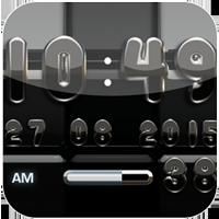 『デジタル時計黒ウィジェット』~ホーム画面がダークな雰囲気に!黒で統一された世界観~