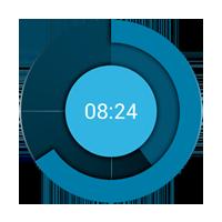 Holo Clock Widget