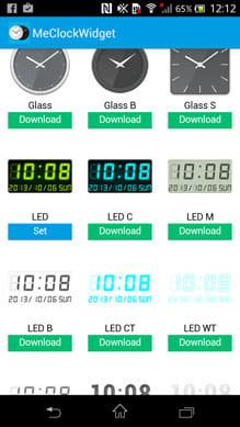 7セグLEDデジタル時計ウィジェット - Me Clock:『Me Clock』での設定画面