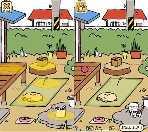 ねこあつめ:ネコ達と遊んでお礼にもらえる「にぼし」を集めよう