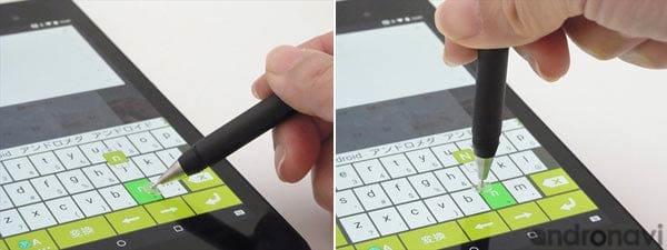 ディスクがディスプレイに密着するので、ペンの角度を気にせず使える