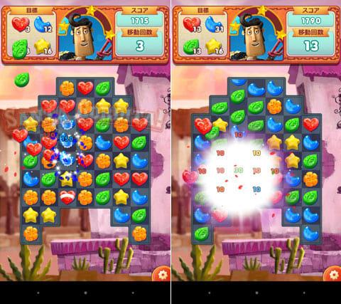 Sugar Smash Book of Life:お菓子を3つ以上並べるだけ。移動回数に注意しながら、コンボを狙おう!
