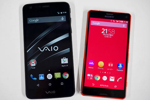 「VAIO Phone」と「Xperia Z3 Compact(D5803)」