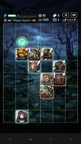 テラバトル:敵アイコン左上の数字は次に攻撃してくるまでのターン数だ。少ないのから倒そう。