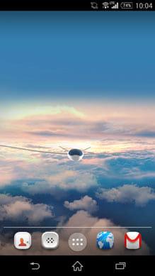 3D雲の中飛行