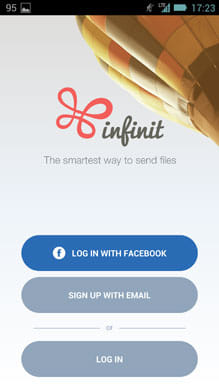 File transfer by Infinit