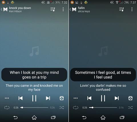 Musixmatch - 歌詞付き音楽プレイヤー:ほとんど曲で、歌詞はしっかり表示された