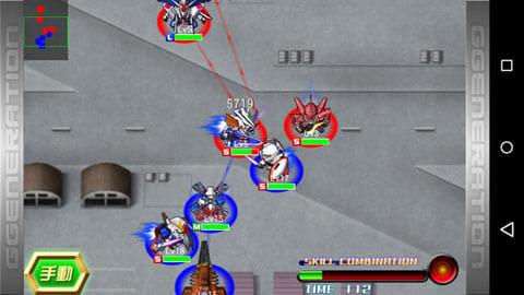 「SDガンダム Gジェネレーション フロンティア」:戦略的なバトル画面
