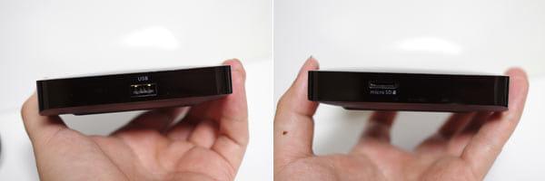 USBメモリーや、microSDメモリーカードに対応していて今後の拡張に期待