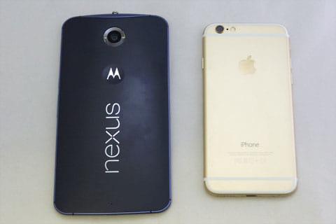 iPhone 6とのサイズ比較