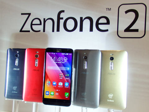 格安スマホでは最高性能な「ZenPhone 2」は5万円超のモデルもある