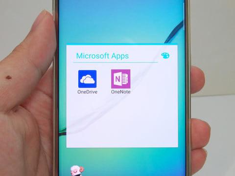 Androidなのに最初からMicrosoftのアプリが入っているのが面白い