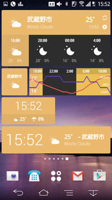 Weather Timeline - Forecast:ウィジェットも利用可能