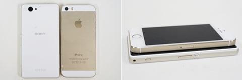 「iPhone5 S」に近いサイズ感となっている