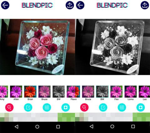 BlendPic:Blend photo:エフェクト効果画面