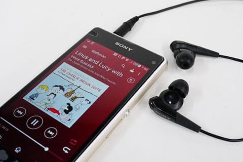 音楽を聴くには純正の『Walkman』アプリ