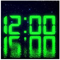 LED clock widget free