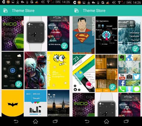 Launcher Lab - DIY Themes:様々なデザインがある「ThemeStore」