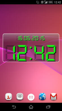 LED clock widget free