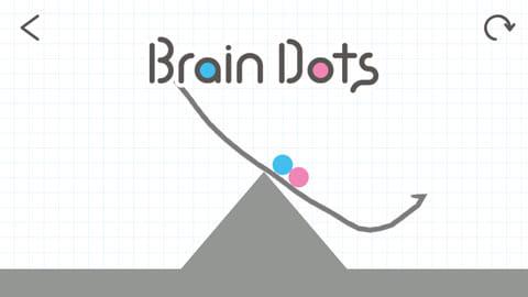 Brain Dots(ブレインドッツ):山に落ちないように皿のような図形を描いてみた