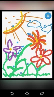 みずあそび 3|色鮮やかな水を自由に混ぜ合わせて遊ぼう!:お日様の絵を描いてみました