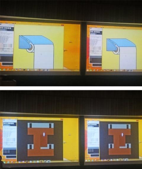 トイレットペーパーをどんどん回す(上)ロールが尽きると家を動き回りペーパーを探すゲームへ(下)