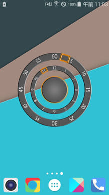 Modern Two Clock Widget