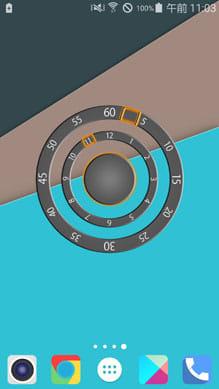 Modern Two Clock Widget