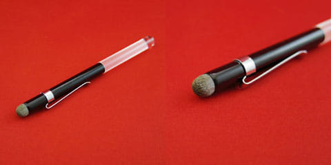 Touch Wand D-type 全体(左)Touch Wand D-typeのペン先(右)