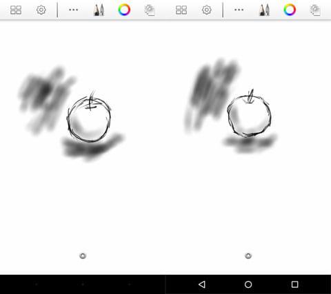 スタイラスタッチペン(左)Renaissance Pro(右)
