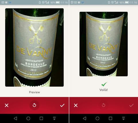 Vivino Wine Scanner:実際にワインボトルを撮影