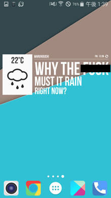 Grumpy Weather Widget