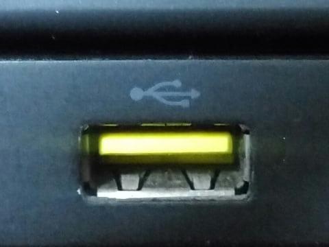 本来のUSB 2.0端子の給電能力は500mAが上限(写真はイメージです)