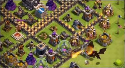 クラッシュ・オブ・クラン (Clash of Clans):だが高レベルの村は鉄壁である