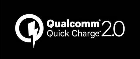 Quick Charge 2.0対応充電器は、このロゴが目印(無いものもあるので注意)