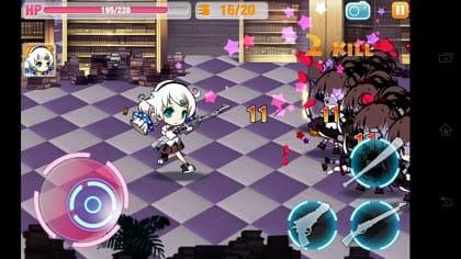 崩壊学園【本格横スクロールアクションゲーム】:基本は横スクロール型のアクション