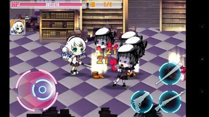 崩壊学園【本格横スクロールアクションゲーム】:バットなら近接でフルボッコ