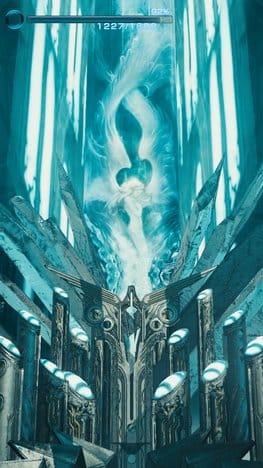 MOBIUS FINAL FANTASY:なにやら神秘的な空間。おなじみのクリスタルのような雰囲気も…!?