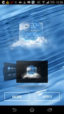 average temp &3D clock widget:アイコン選択画面
