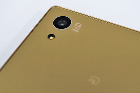 1/2.3型の約2,300万画素のイメージセンサーExmor RS for mobileを搭載したカメラ