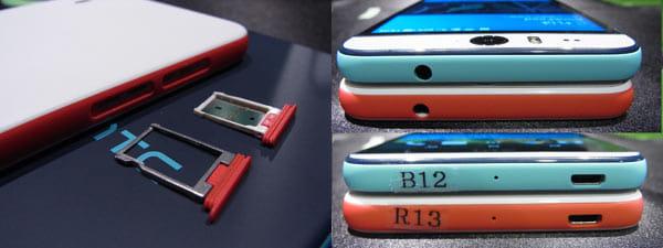 Nano SIMカードスロットとmicroSDカードスロット(左)本体上部に3.5mmイヤホンマイク端子、下部にmicroUSB端子。共にキャップレス防水(右)