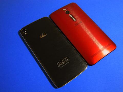 「ZenFone 2」と比べると、厚さ以外はほぼ同じ大きさだ