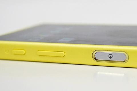 指紋センサーが搭載された電源ボタン
