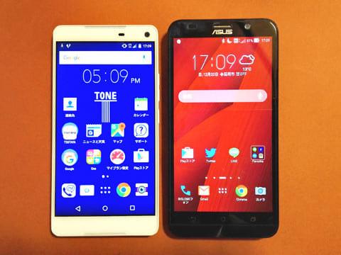 ディスプレイは「ZenFone 2」などと同じ5.5インチサイズ