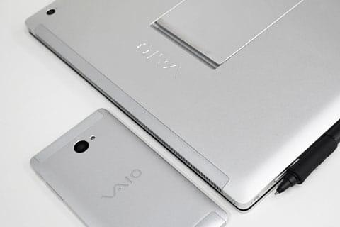 筐体デザインは、「VAIO Z Canvas」をベースに、アルミニウムと強化ガラスで包まれたボディで構成
