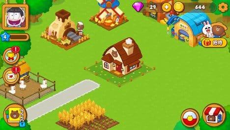 『LINE ブラウンファーム』:庭をはやくおっきくさせたい!