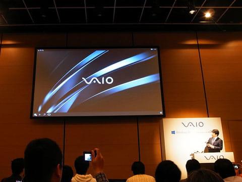 発表会では「VAIO Phone Biz」を使ったContinuumのデモも披露された