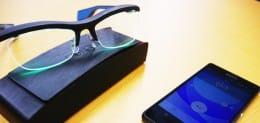 スマホと連動した「雰囲気メガネ」